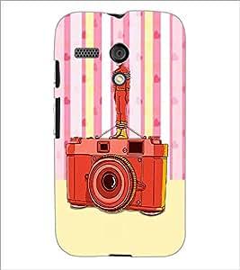 PrintDhaba Camera D-3908 Back Case Cover for MOTOROLA MOTO G (Multi-Coloured)
