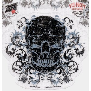 Top Heavy - Filigree Skull - Sticker / Decal