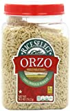 RiceSelect Orzo Whole Wheat Pasta, 26.5-Ounce Jars (Pack of 4)