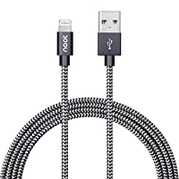 noot products 6 feet Nylon Braided Apple MFi Certified Lightning to USB Charging Cable Cord