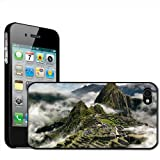 Fancy A Snuggle 'Mists in Mountains Machu Picchu Peru' Clip On Back Cover Hard Case for Apple iPhone 4/4S