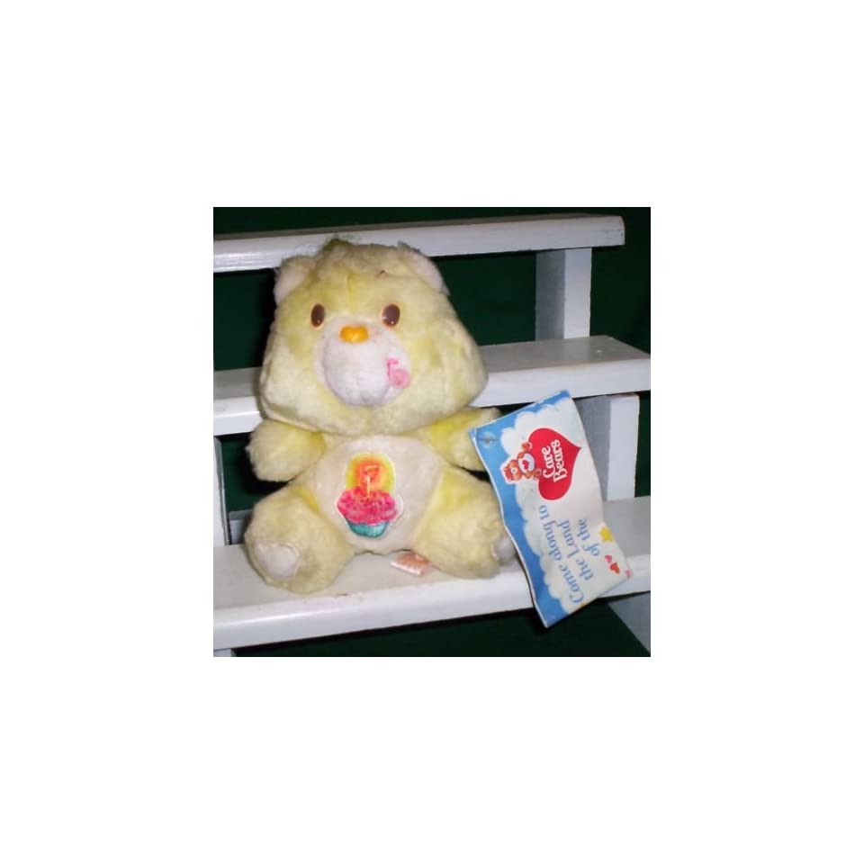 1983 Care Bears 6 Plush Birthday Bear Care Bear Doll