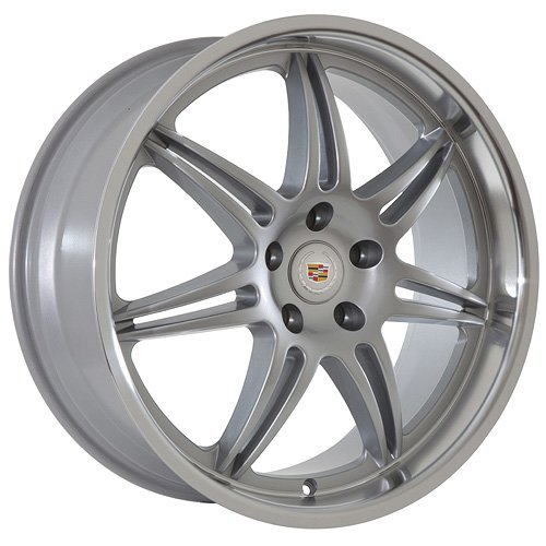 20 Cadillac Wheels Rims Silver  Polished Lip