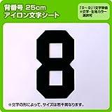 数字ナンバーワッペン(25cm) ※0~9まで1文字単位でお申込み頂けます 生地:刺繍調 (黒) ブロック
