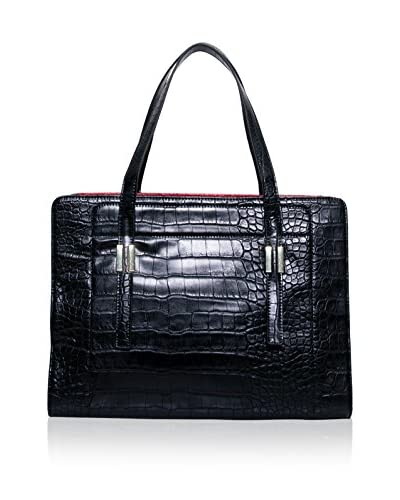 Tutilo Women's Dat-A-Porter Tote, Black Croc As You See