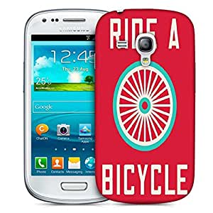 Snoogg Ride A Bicycle Poster Large 2849 Designer Protective Back Case Cover For Samsung Galaxy S3 Mini