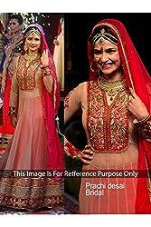 Designer ORANGE RED SILK&NET Bollywood Replica Dress