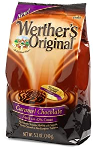 Werther's Original Caramel Dark (42%) Chocolate, 5.2-Ounce Bags (Pack of 6)