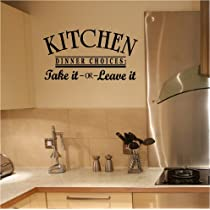 Kitchen Dinner Choices- Take it or Leave it 12.5x25
