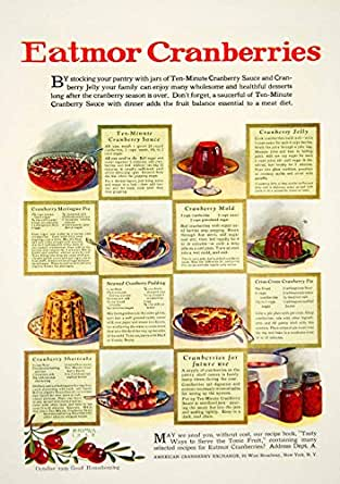 1929 Ad H. Hymer Eatmor Cranberries Sauce Jello Pie