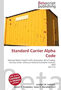 Standard carrier alpha code national motor for National motor freight traffic association