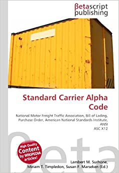 Standard carrier alpha code national motor freight for National motor freight traffic association