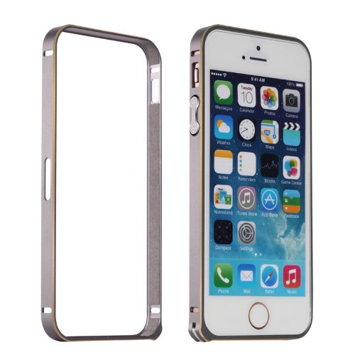 Moon Monkey Lightweight Luxury Slim Metal Frame Bumper Protective Case For Iphone 5S 5 (Mm416) (Grey)
