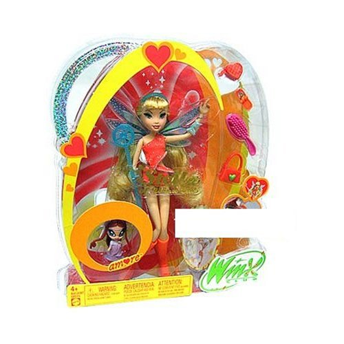 Buy Low Price Mattel Winx Club Fairy Doll Deluxe Figure Stella with Pixie Friend Amore (B000A7ZP0I)