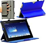 Navitech Blue Faux Leather Hard Case Cover For The ASUS MeMO Pad FHD 10 ME302C Tablet