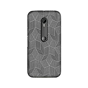 Moto X play Perfect fit Matte finishing Motif Pattern Mobile Backcover designed by Abaci(Black)