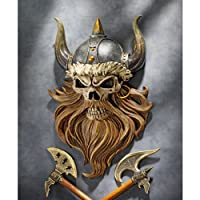 Design Toscano CL5827 the Skull of Valhalla Viking Warrior Wall Statue by Design Toscano