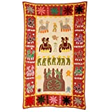 Rajrang Home Décor Embroidered Patch Work Cream Wall Hanging - B00TQRKEDQ