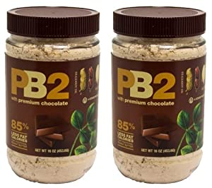 Bell Plantation Chocolate Powdered Peanut Butter 16 oz - 2 Pack by PB2