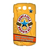 Newcastle Brown Ale Beer Sign Snap On SamSung Galaxy S3 I9300/I9308/I939 3D White Plastic Case and Water Proof SamSung Galaxy S3 Case