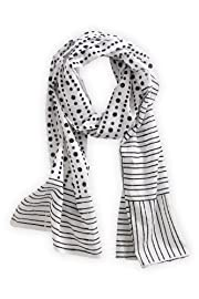 Asian Eye Fair Trade Cotton Tamara Scarf (White)