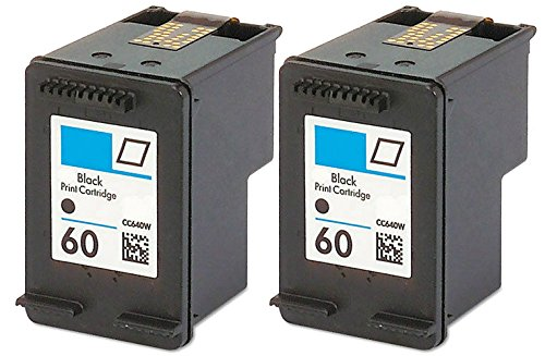 HouseOfToners Remanufactured Ink Cartridge Replacement for HP 60 CC640WN (2 Black, 2-Pack)