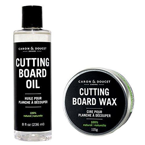 Caron & Doucet - Cutting Board & Butcher Block Bundle: 2 items - 1 Cutting Board & Butcher Block Oil, 1 Cutting Board & Butcher Block Wax. 100% Plant Based (Butcher Block Oil Organic compare prices)