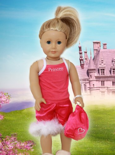 "Princess Pajamas Fits 18"" Doll Clothes"