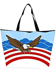 Snoogg Bald Eagle 4th Of July Vector Theme Design Waterproof Bag Made Of High Strength Nylon