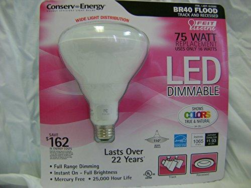 Feit Electric Conserv-Energy Dimmable BR40 LED 16 Watt Flood Light Bulb - 75 Watt Equivalent Replacement