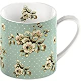 Creative Tops Katie Alice Cottage Flower Floral Fine China Shabby Chic Mug Green
