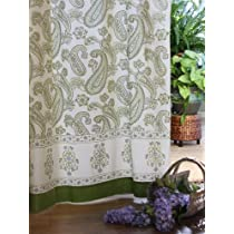 Paisley Fraiche  Lime Green Cream Beautiful Elegant Curtains
