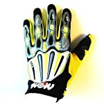 Motocross Motorcycle BMX MX ATV Dirt Bike Skeleton Racing Gloves Yellow