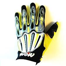 Motocross Motorcycle BMX MX ATV Dirt Bike Skeleton Racing Gloves Yellow