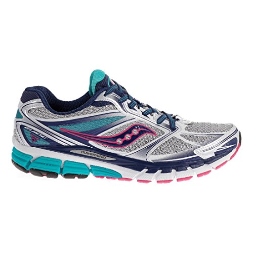 Saucony Women's Guide 8 Running Shoe,White/Twilight/Pink,9 M US