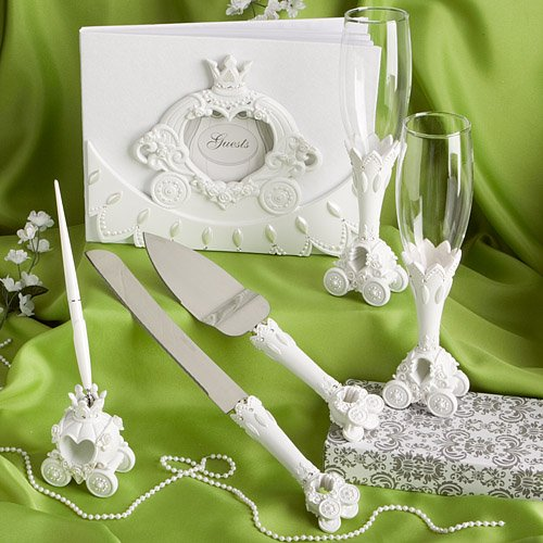 Finishing Touches Collection of Fairy Tale Coach Design Wedding Day Accessories.