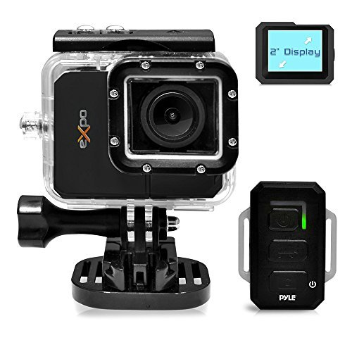 Pyle-eXpo-Hi-Res-Mini-Action-Video-Camera-with-20-Mega-Pixel-Camera-2-Inch-LCD-Screen-and-Wi-Fi-Remote