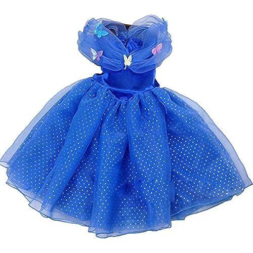 할로윈 키즈 프린세스 원피스 드레스 블루 코스튬 의상