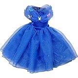 ハロウィンキッズプリンセスワンピースドレスブルー仮装コスチューム衣装(130cm)