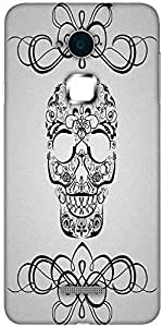Snoogg skull white 2435 Designer Protective Back Case Cover For Coolpad Note 3 (White, 16GB)