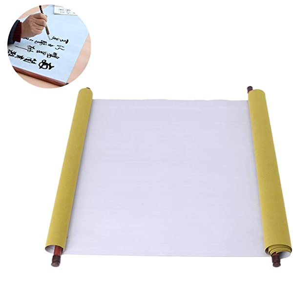 Reusable Chinese Magic Cloth Water Paper Calligraphy Fabric Book Notebook Magic Cloth Water-Writing for Practicing Chinese Calligraphy Drawing Kanji Chinese Calligraphy fine Scroll 1.5 Meters (2pc) (Color: 2pc)