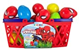 Pack of 18 Marvel Superhero Ultimate Spiderman Candy Filled Eggs for Easter Basket