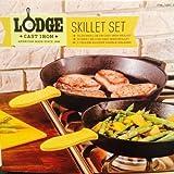 "Lodge Cast Iron Skillet Set 10.25"" & 12"""