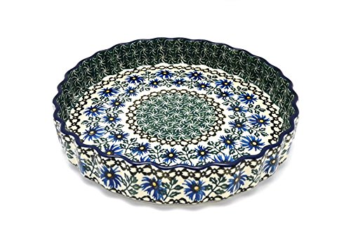 Polish Pottery Baker - Fluted Quiche - Large (9
