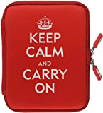NeoSkin Nook 2nd Edition Zip Sleeve, Keep Calm and Carry On (Neoprene Kindle Cover, Kindle Case)