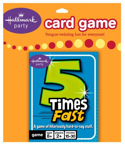 5 Times Fast Card Game Party Accessory - 1