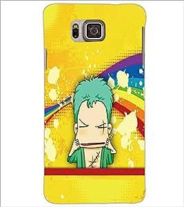 PrintDhaba Cartoon D-3338 Back Case Cover for SAMSUNG GALAXY ALPHA (Multi-Coloured)