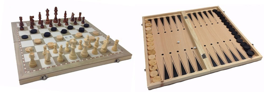 nardy 3 in 1 backgammonspiel 39 x 39 cm schachspiel brettspiele aus holz spiel ebay. Black Bedroom Furniture Sets. Home Design Ideas