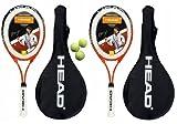 2 x Head Ti.Radical 27 Titanium Tennis Rackets + 3 Tennis Balls L4 RRP £89.99