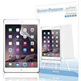 iPad Mini Screen Protector, amFilm® Screen Protector for iPad Mini 3, iPad Mini 2 and iPad Mini Retina Display Premium HD Clear (Invisible) (2-Pack) [Lifetime Warranty]